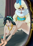 Jasmine loves having sex in front of her mirror!