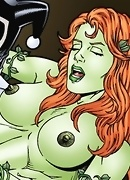 Lesbian lust with Poison Ivy and Harley Quinn