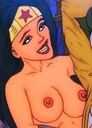 Cute Catwoman and strong Wonder woman treat Jocker