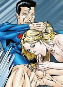 Superman and Supergirl fucking in the fortress of solitude