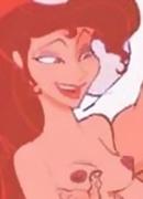 Virgin Megara slams Phil's cock before gets screwed hard
